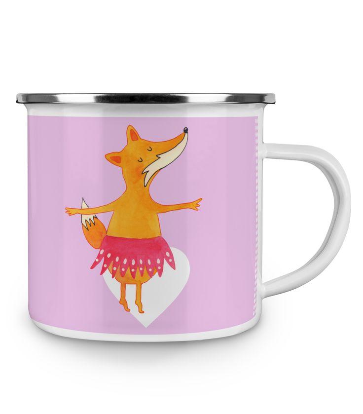 Emaille Tasse Fuchs Ballerina aus Metall im Emaille Look  Weiß - Das Original von Mr. & Mrs. Panda.  Diese wunderschöne Emaille Tasse von Mr. & Mrs. Panda ist wirklich etwas ganz besonders.  Diese Metalltasse mit abgesetztem Edelstahl Rand in Emaille Optik ist der perfekte, bruchsichere Begleiter für dein nächstes Abenteuer.    Über unser Motiv Fuchs Ballerina  Die Fox-Edition ist eine besonders liebevolle Kollektion von Mr. & Mrs. Panda. Jedes Motiv ist - wie immer bei Mr. & Mrs. Panda…