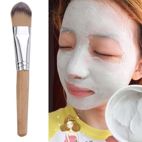 Hot Sale Bamboo Handle Powder Concealer Foundation Brush Mask Brushes Cosmetics Professional Makeup Brush Set Hair brush