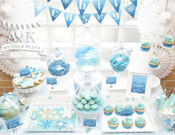 Casey's Frozen Themed 7th Birthday Party