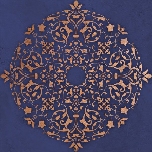 Ceiling Stencils | Arabesque Ceiling Medallion | Royal Design Studio