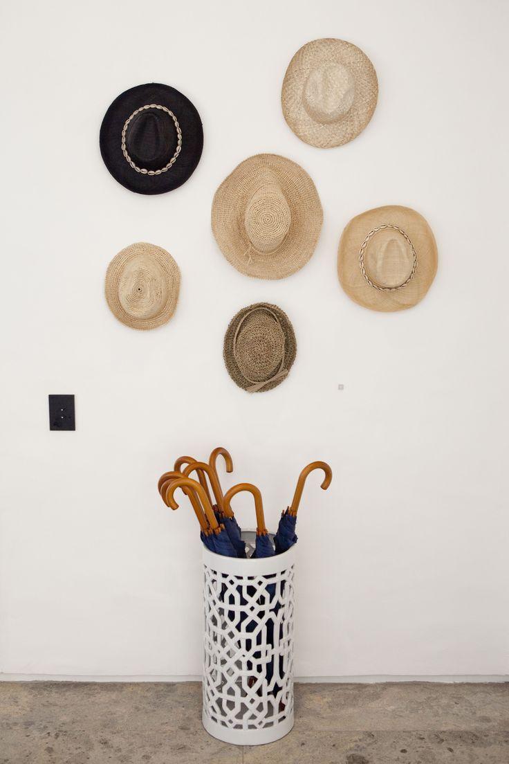 Ocean House, Morukuru, South Africa. Hat and umbrella stand. #OceanHouse #Morukuru #DeHoop #SouthAfrica #decor #design