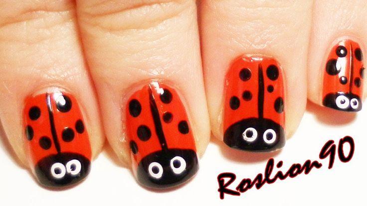 Nail Art Tutorial Coccinella/ Ladybug (+lista de reproducción)