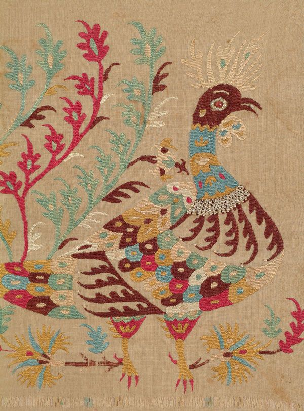 Cockerel.  Greek embroidery from the Island of Skyros.  19th century.