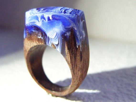 Walnut ring Schuim van de zee.  Womens door GeppettoManufactory