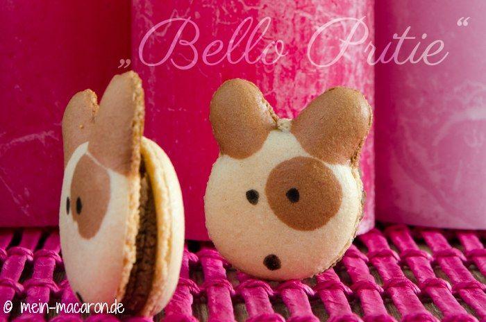 """""""Bello Pritie"""" Macarons und ein Rezept für eine Vanille-Vollmilchganache."""