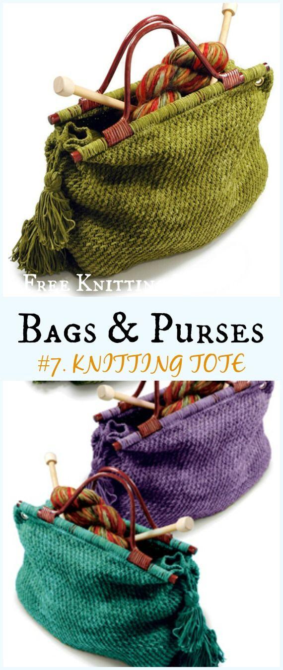 Knitting Tote Bag Free Knitting Pattern - #Bags & Purses Free #Knitting Patterns