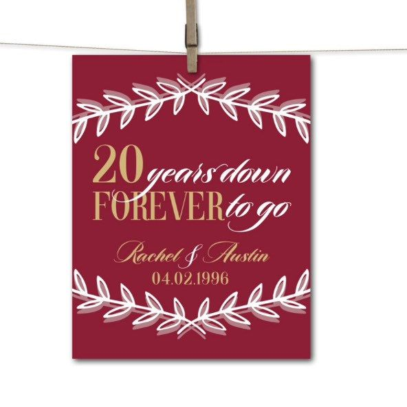 20th Wedding Anniversary Gift Ideas For Him: Wow Your Husband Or Wife With The Perfect Personalized