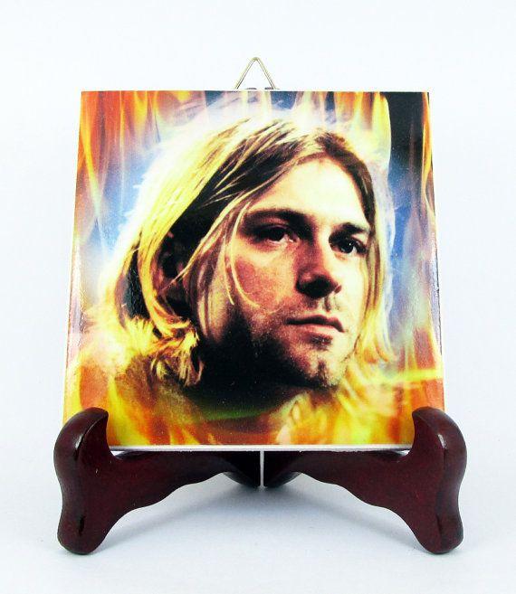 Kurt Cobain Nirvana Ceramic Tile / Magnet 100% by TerryTiles2014