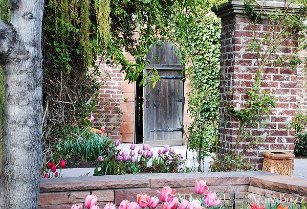 Secret Garden Door at Tulip Festival at Thanksgiving Point; Lehi, Utah