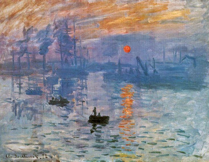 Impressão, Nascer do Sol - Pinturas de Monet Claude | O Pai do Impressionismo