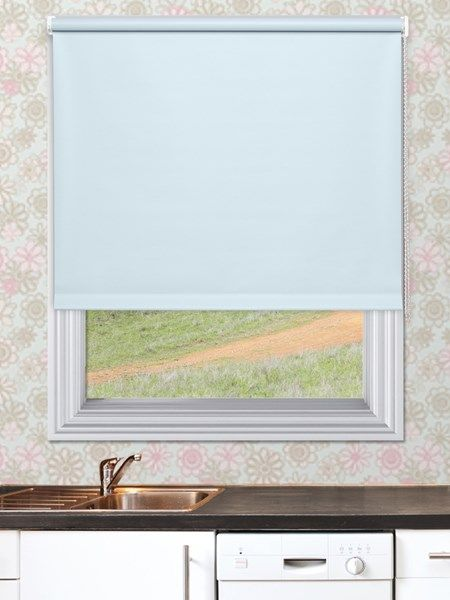 Unilux Powder Blue Waterproof Blinds - Our Unilux Waterproof PVC Roller Blind fabric is available in 14 plain colours. The fabrics are very easy to wipe clean and are water and mould resistant.