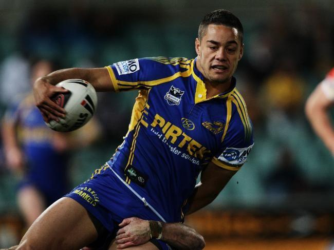 Jarryd Hayne playing for Parramatta Eels
