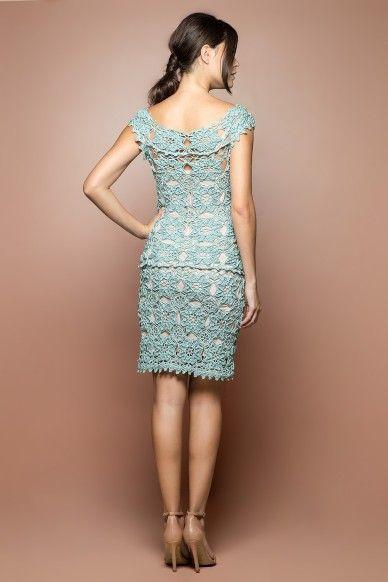 Acqua Mikonos Crochet Dress - Vanessa Montoro EUA - vanessamontorolojausa