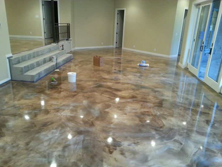 New Epoxy Floor At Made In America House Epoxy Overlay