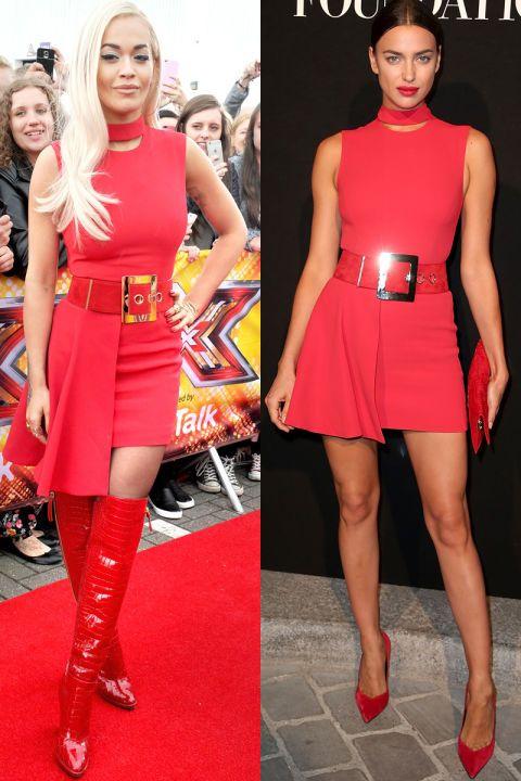 Rita Ora v. Irina Shayk in Versace: