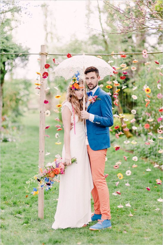 Greenhouse wedding with tons of color! #weddingchicks Captured By: Youri Claessens http://www.weddingchicks.com/2014/07/31/greenhouse-wedding-with-tons-of-color/