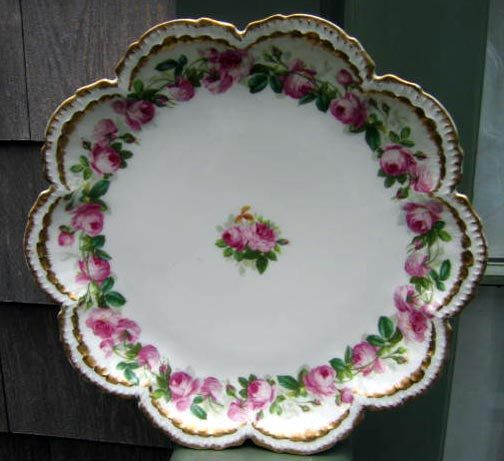 Antique Haviland Limoges Cake Plate Roses by 4HollyLaneAntiques, $115.00