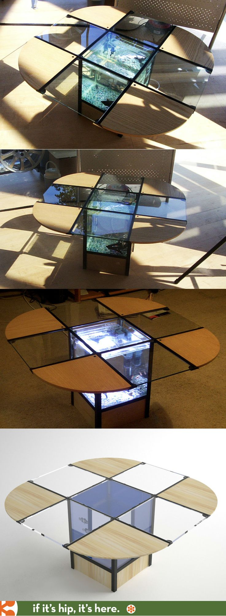 Fish Tank Coffee Table by Alistair Bentley