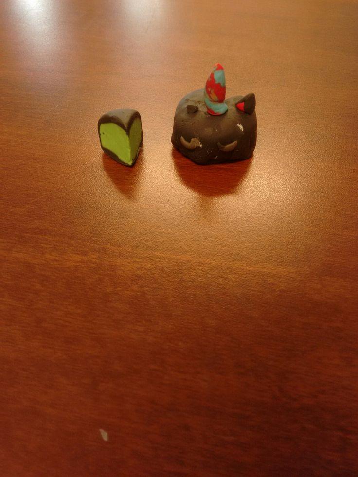 Pastel de unicornio negro