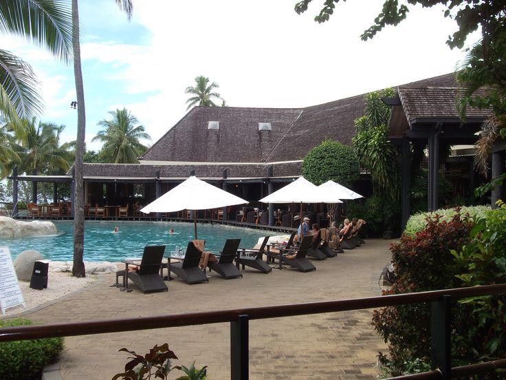 #Travel: Swimming Pool, #Sonaisali Island Resort, #Fiji.  Photo Credit: Dawne Rudman