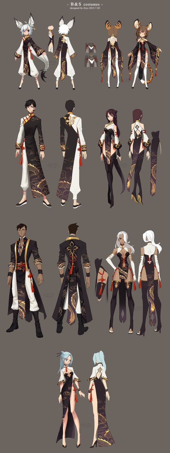 My entries to the Blade & Soul chinese server Server's second costume design contest.costumes designed by me,Ziyoling