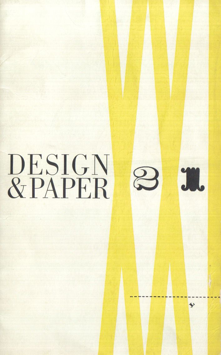 Thirty-nine issues of the modern graphics artifact Design & Paper were published by Marquardt and Co. from around 1935–1950. Each booklet was custom designed with essays by experts. Together they comprise a history of American Modernism that is invaluable to both scholar and practitioner today. #design #designhistory