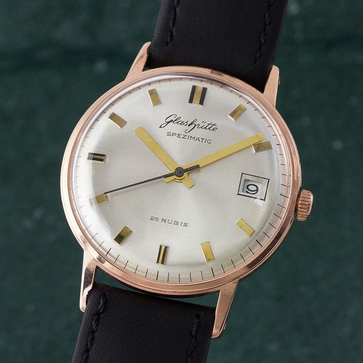 GLASHÜTTE SPEZIMATIC AUTOMATIK ORIGINAL HERRENUHR VINTAGE KLASSIKER VON 1969 in Uhren & Schmuck, Armband- & Taschenuhren, Armbanduhren | eBay!