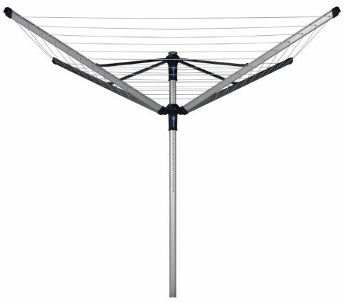 From 94.99 Brabantia Lift-o-matic Rotary Clothes Airer With Metal Ground Spike Peg Bag And Protective Cover - 50 M Soil Spear