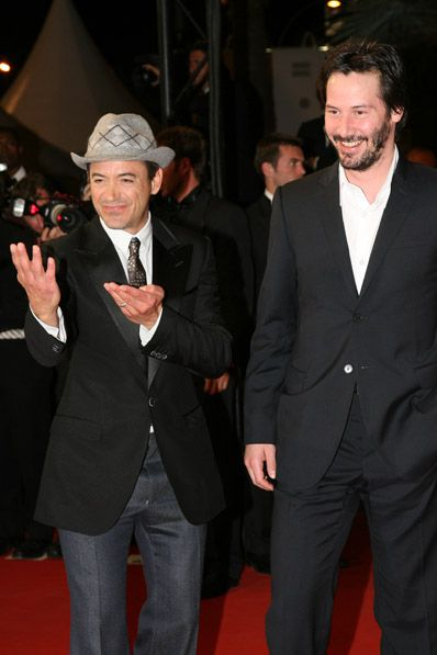 Robert Downey Jr. + Keanu Reeves Love both of their smiles!!! :)
