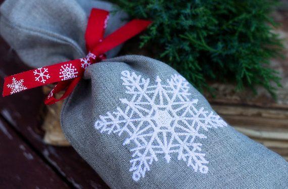 Natural Linen Favor Gift Bag Linen by NaturalHomeTreasures on Etsy
