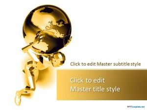 Gratis Plantilla PPT Global Gold