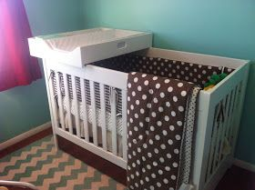Since our nursery is small, I knew we wouldn't have room for a traditional changing table.  And I was OK with that.  I googled all over f...