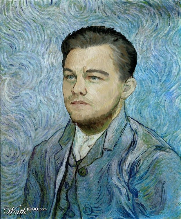 25 Celebrities Humorously Re-Imagined as Classic Paintings | Read full article:  leodicaprio old art celebrity painting by vincent 10