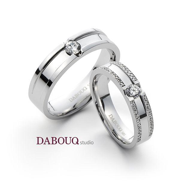 Dabouq Studio Couple Ring - DR0002 - Simple+