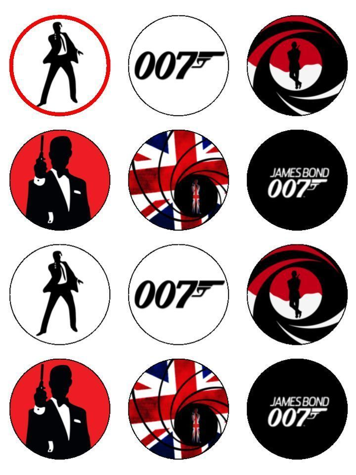 james bond cupcake toppers | 1000x1000.jpg