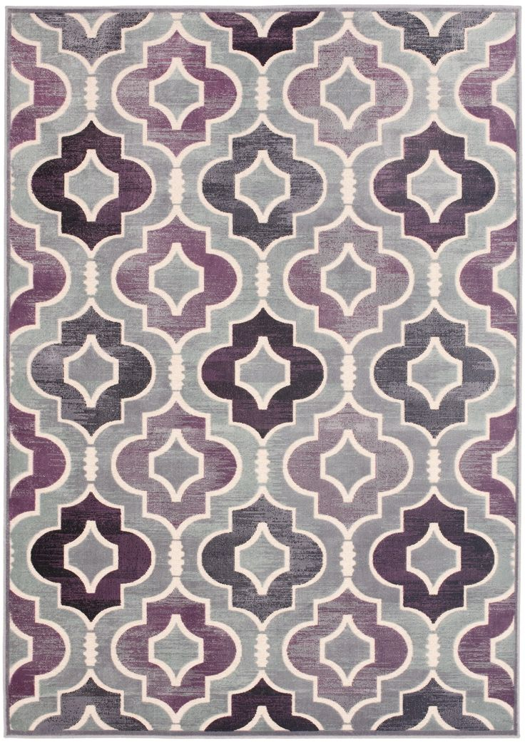 Geometric Print - This rug from Safavieh's Paradise collection features a lovely medallion motif in grey and lavender.  Style PAR165-740. #Safavieh #Lavender #Blossoms #Color_story #Design #home_decor #purple #interior_design #Carpet #Paradise #Geometric
