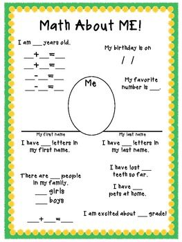 All About Me #Math!
