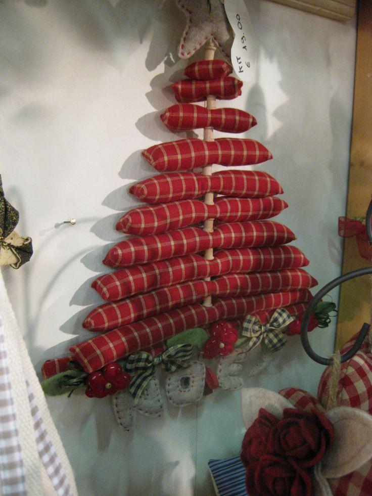 albero di natale di stoffa - visto in fiera