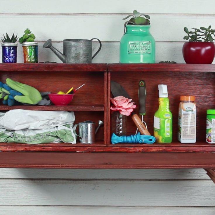 DIY Hideaway Shelves