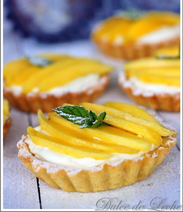 Mangové tartaletky s krémom z kokosu a bielej čokolády   Urob si sám