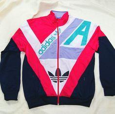 80s Adidas tracksuit jacket