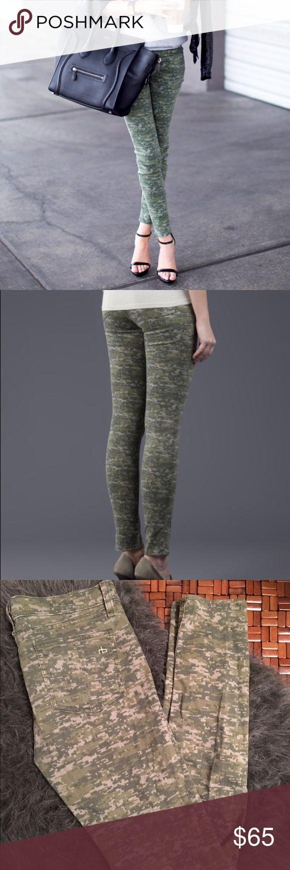 "Rag & Bone Camo Skinny Jeans EUC Rag & Bone ""Digital Camo) Skinny Jeans. Size 27. Tiny pelting patch on rear next to left pocket, not noticeable. rag & bone Jeans Skinny"
