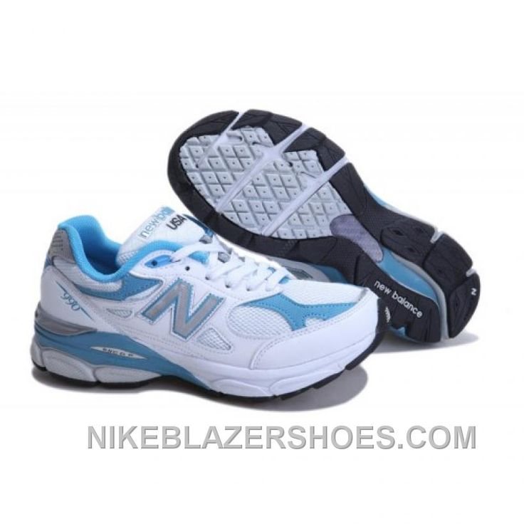 New Balance 990 Mens Blue White Shoes Cheap
