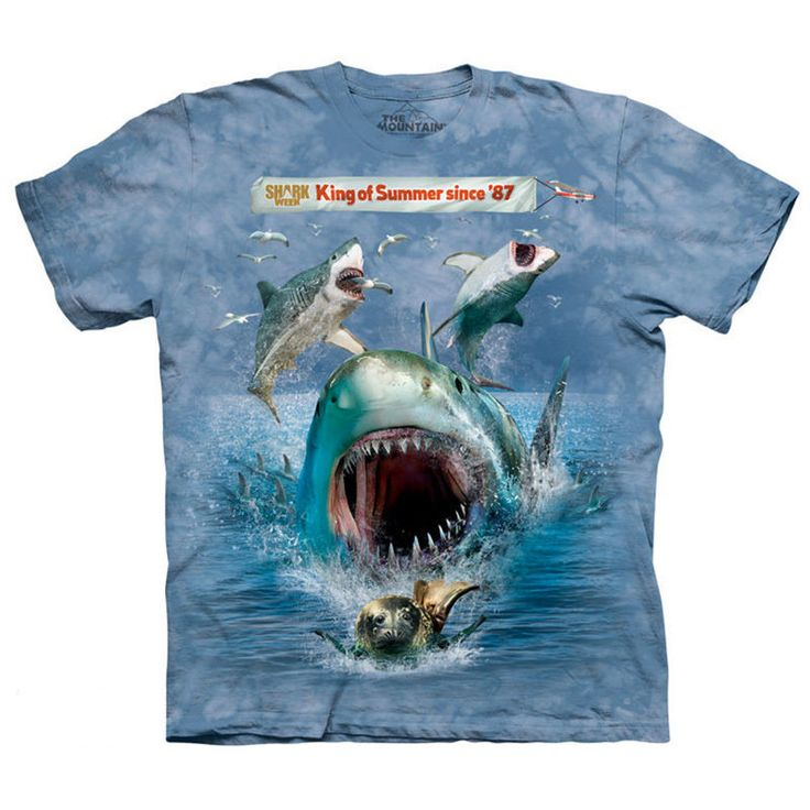 SNUFFY CHILD T-SHIRT The Mountain Funny Hungry Shark Week Kid Boy Girl Tee  NEW