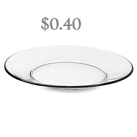 Clear Glass Plates Brisbane Hire
