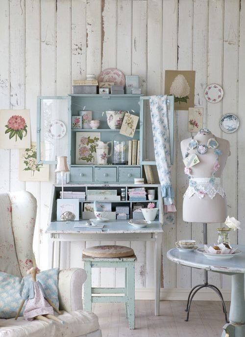 102 best images about shabby country chic on pinterest for Shabby chic craft room