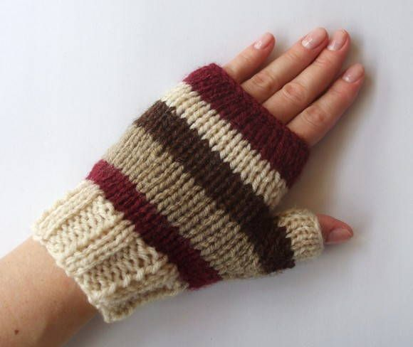 Luvas de frio tricô - Sem dedos | KARINE LOPES | Elo7
