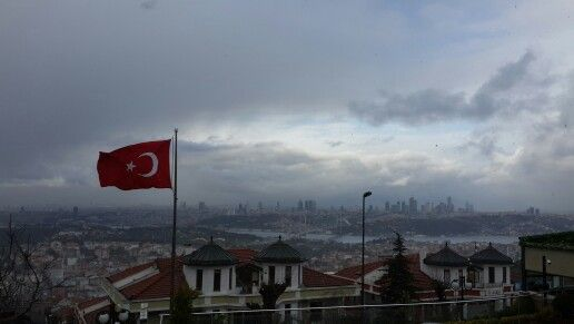 İstanbulda kar var 2015 in son günü  Çamlıca