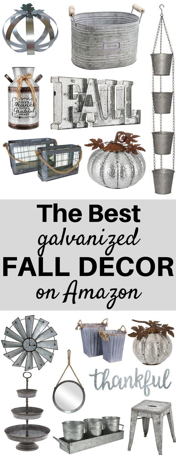 A Brick Home: galvanized fall decor, galvanized fall decorations, galvanized fall bucket, farmhouse style galvanized fall decor, barn tin, fall decor, fall decor ideas for the home