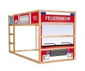 Feuerwehrauto Möbelsticker / Aufkleber für KURA von IKEA - IM132